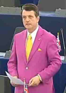Gerard Batten: questionable taste, in policy as well as clothes