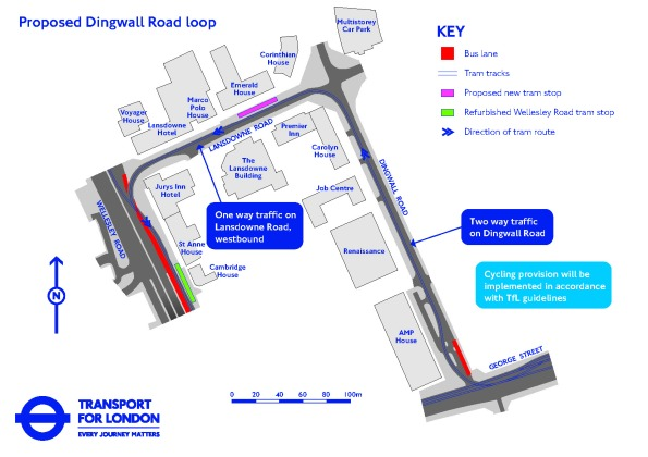 The TfL Dingwall loop which they intend to impose on the tram network, for the benefit of utility providers, rather than passengers