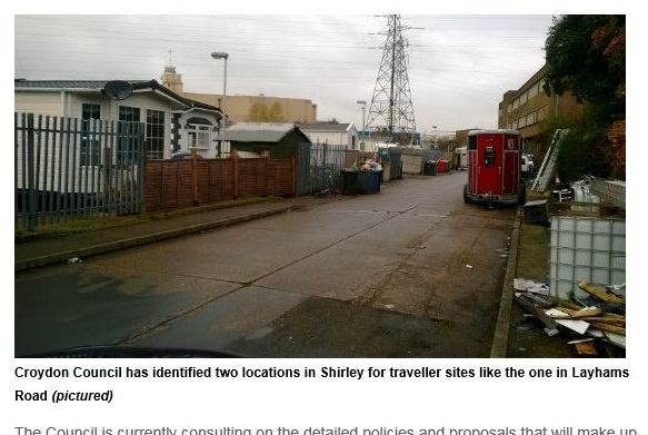 """A travellers' site """"like this one"""" could be coming to your neigbourhood is the clear message in one of Gavin Barwell's"""