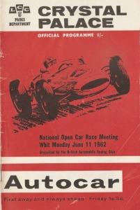Crystal Palace race programme