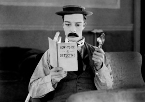 Buster Keaton in Sherlock Jr, coming to a screen in the Clocktower next week