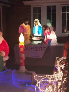 The house on King Henry's drive spared no detail in its Christmas lights display