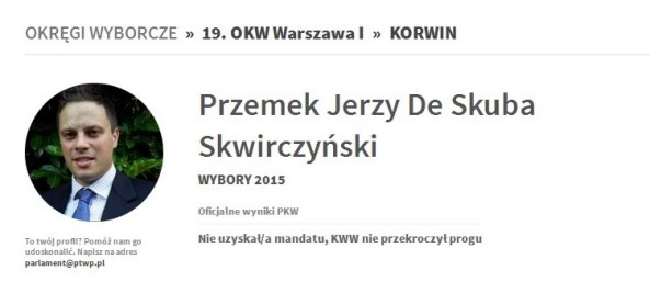 The official Polish government website shows that south Londoner Swirczynski is unelectable in Poland as well as Britain. Which must be a bit of a relief to us all