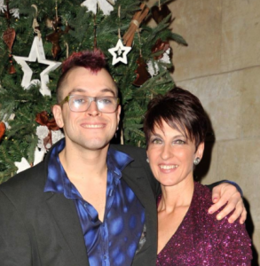 Big Brother's Pete Bennett with charity founder Anna Kennedy at the Glitter Ball at the Selsdon Park Hotel at the weekend