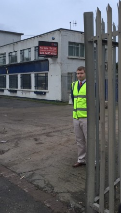 Viridor's Andrew Turner looks distinctly uncomfortable with the Beddington site receiving any public attention