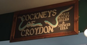The interior of Cockneys of Croydon is reassuring old-style, real London