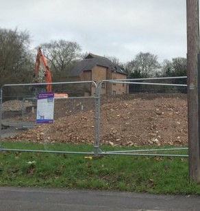 "Lion Green car park at the weekend, where ""work"" began on site seven months ago"