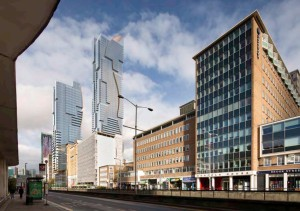 How the 700-foot-high block will look from Welleseley Road