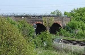One of the bridges into Beddington Farmlands that Network Rail wants to demolish