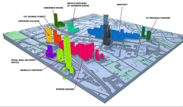 With 1 Lansdowne at the centre of things, naturaly, Croydon's skyline is undergoing fundamental change