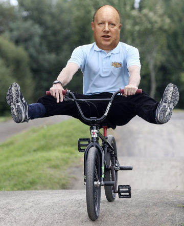Watch out Norbury, here comesTony Newman, pedalling the council's BMX track