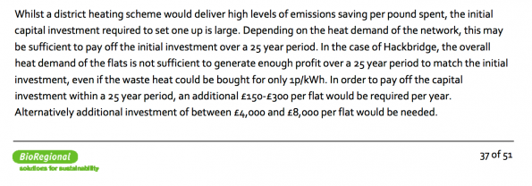 The Sutton Council report which ought to have damned the heat network as not viable, and therefore rendered the incinerator unsustainable environmentally