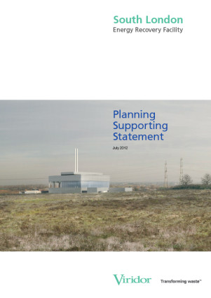 Viridor's own planning support submission, which included troubling cost conclusions from their own consultants