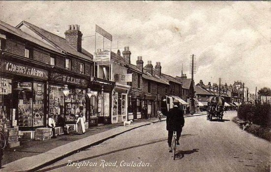 Brighton Road Coulsdon postcard