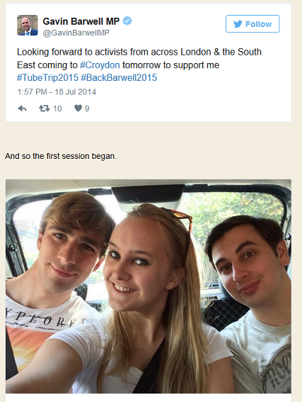 How Elliott Johnson reported, and pictured himself, on the campaign trail for Gavin Barwell