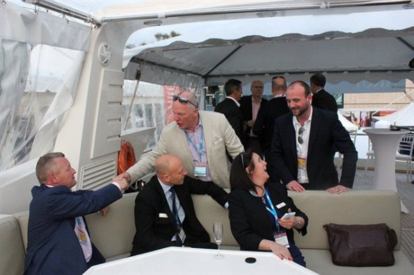 Some of the delegation from Croydon hard at work at a typical MIPIM meeting last year