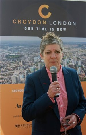 Trebles all-round! Council official Jo Negrini at last year's MIPIM conference in the south of France. She'll be back for more in a week's time