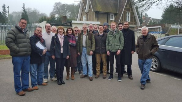 A typical Tory canvassing team, in operation last weekend. Notice anything?