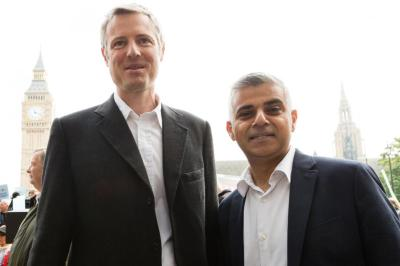 Front-runners: MPs Goldsmith and Khan are among 12 candidates for London Mayor