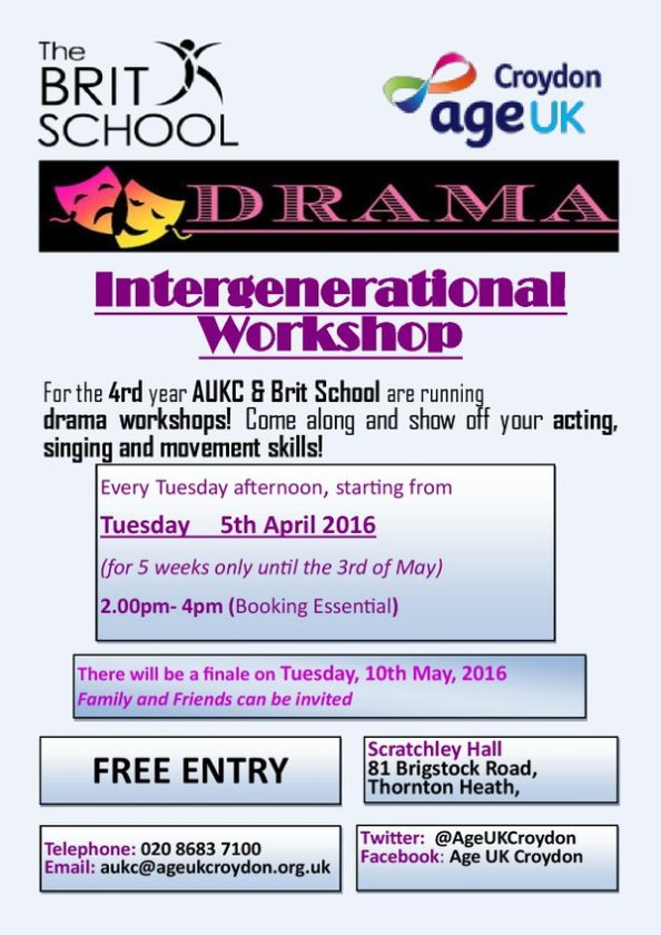 age uk drama workshops