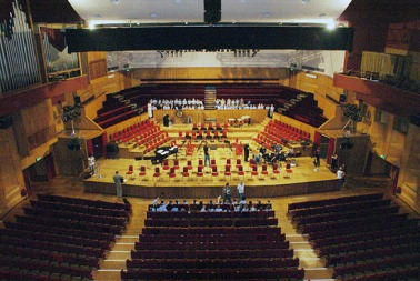 Work is being undertaken to preserve the acoustic quailty of the Fairfield's concert hall