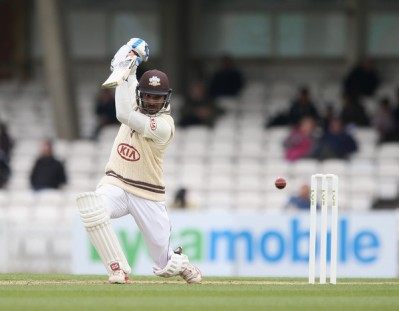 Sangakkara in county action last year: the Sri Lankan star says he enjoys being part of The Oval set-up