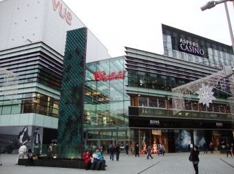 Westfield Stratford: with its cinema and casinos, it may appear similar to some of the developers' drawings for Croydon. Jo Negrini worked closely with the developers when she worked for Newham