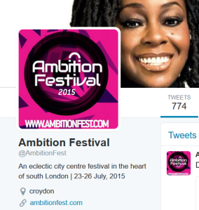 The Croydon Ambition Festival Twitter account has not been updated since summer 2015