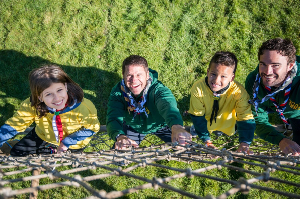 Television presenter Steve Backshall joins in with the Croydon Cubs' fun at the weekend