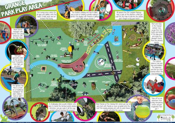 The Friends of Grane Park asked schoolchildren to submit their ideas for the new playground