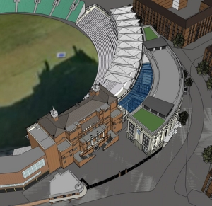 The designs for the Peter May Stand, built to the right of the historic Oval Pavilion, and which is now open for use