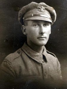 Pte Charles Gillman: a veteran of Ypres, his son will sing in the choir there next week