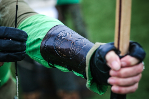... and archery, with some of the arrows being made on site in another demonstration. Photograph by Lee Townsend