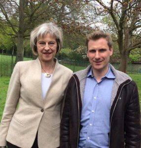 Croydon South MP Chris Philp appears to have backed a winning candidate in Theresa May