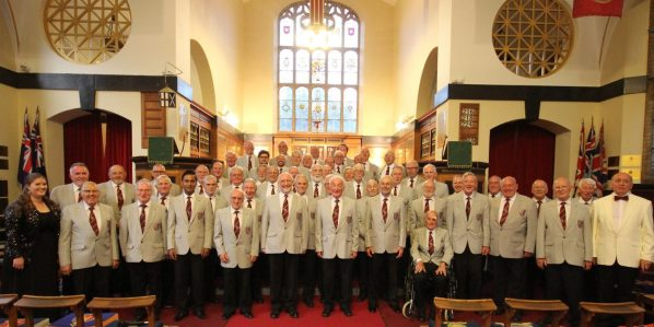 The Croydon Male Voice Choir at their recent performance at St George's Church near Ypres in France