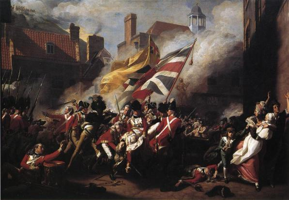 One of Anglo-American Copley's famous heroic works, The Death of Major Pierson