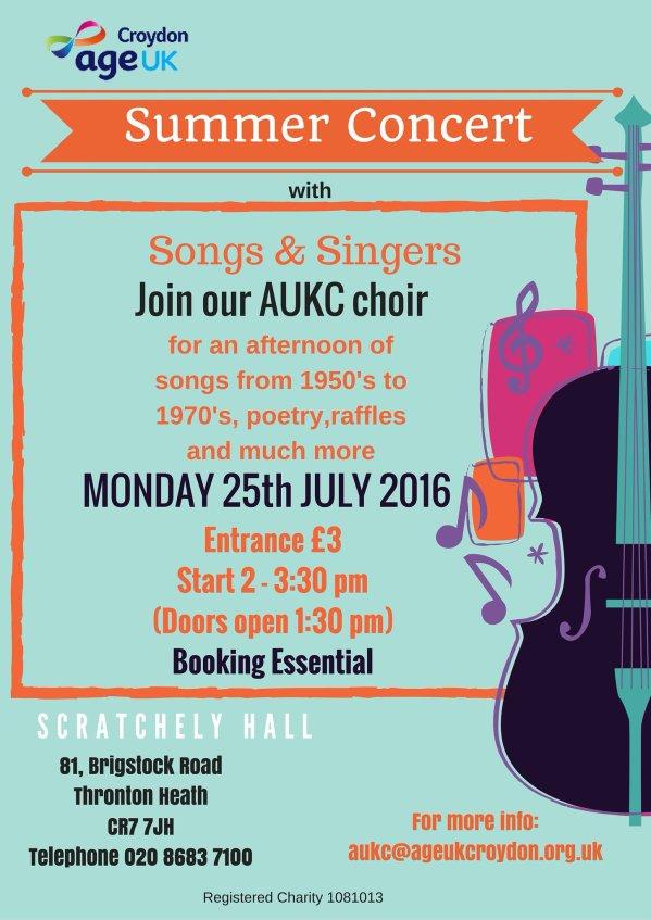 Age UK summer concert