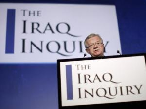 Sir John Chilcot at the publication of his report into the Iraq War this morning