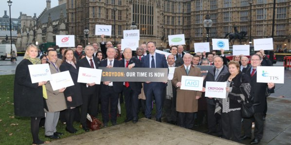 Local politicians elbow their way to the centre of the picture of this cross-party delegation to parliament in Novemver 2014