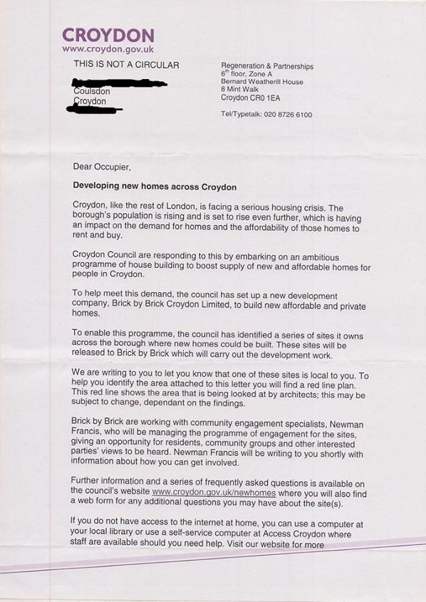 Tollers Lane housing - croydon council
