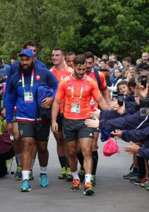 FRance's training sessions drew crowds when they were based at Trinity for the Rugby World Cup