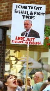 Falafel is not yet a banned word in the Labour Party.