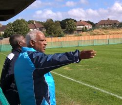 Dickson Gill: providing direction for Croydon FC in the FA Cup