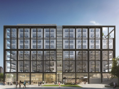 "How the somewhat prosaicly named ""Building 1"" on Ruskin Square should look once it is completed for its tenants, HMRC"