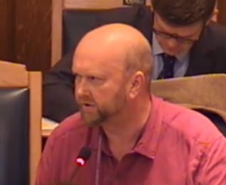 Paul Scott: chair of the planning committee, and partner of the cabinet member who's overseen the Taberner sale