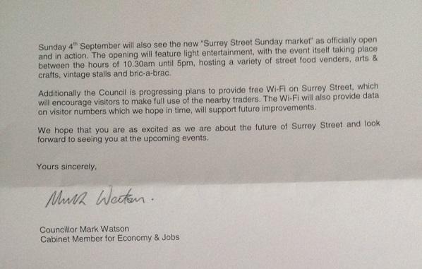 Surrey Street letter 2