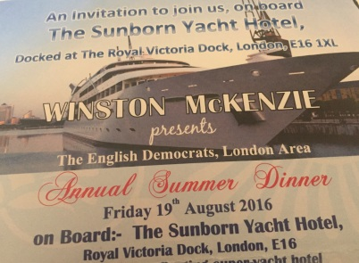 All at sea: A night out with Winston McKenzie. What's not to like?