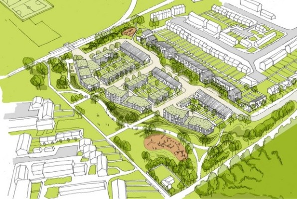 The Hyde Group's revised plans for 129 homes on MOL off Long Lane