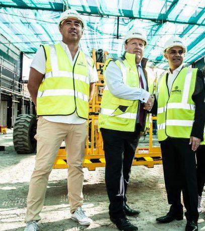 Tony Newman shakes London Mayor Sadiq Khan's hand at the recent Boxpark announcement.
