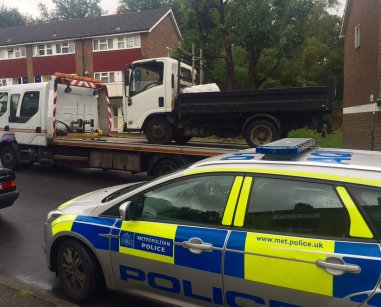 Police have worked with council enforcement teams to seize a truck that was dumping rubbish. Such arrests depend on prompt reporting by the public, often using the fly-tipping hotline